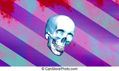Pop grunge horror skull loop