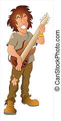 Pop Singer Cartoon Character