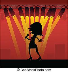 Pop Star in Concert