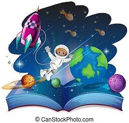 Pop up book space scene