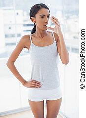 popa, modelo, usando, dela, asma, atomizador