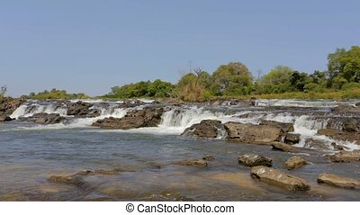 Popa water falls, Namibia, Africa wilderness landscape -...