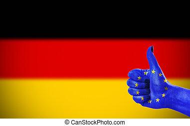 poparcie, niemcy