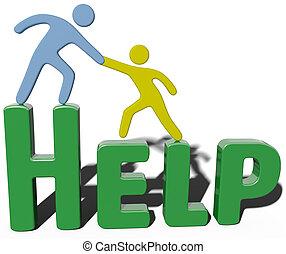 poparcie, pomoc, handlowy, conulting, ludzie