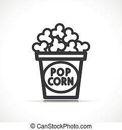 popcorn, 矢量, 设计, 符号, 图标