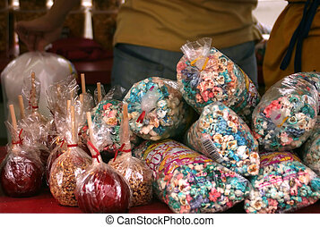 Popcorn and Candy Apples