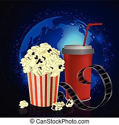 Popcorn and movie  film