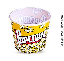 Popcorn box. Isolated on white background