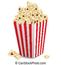 Popcorn box isolated