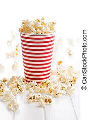 popcorn, carta, cup.