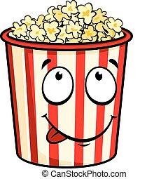 popcorn, cartone animato