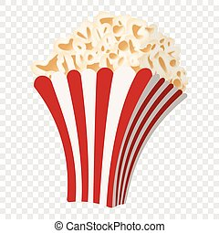 Popcorn cartoon icon
