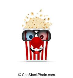 popcorn cartoon illustration