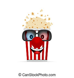 popcorn cartoon illustration