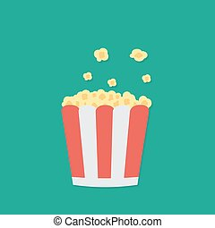Popcorn. Cinema icon illustration