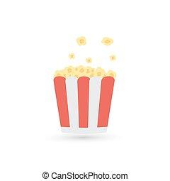 Popcorn. Cinema icon. Vector illustration