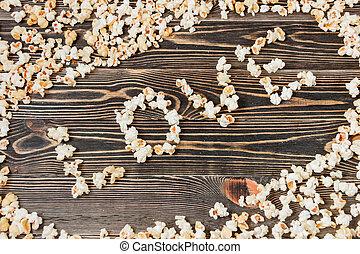 popcorn, constitutions, tekstur, baggrund, usund mad