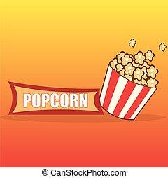 Popcorn design card