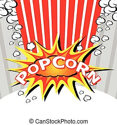 Popcorn design explosion.