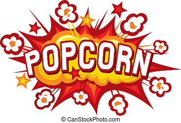 popcorn design (popcorn illustration, popcorn symbol, popcorn explosion)