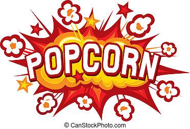 popcorn, disegno