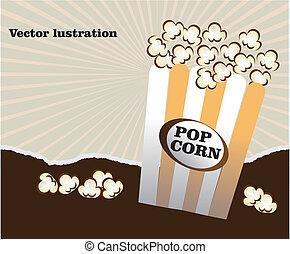 popcorn design over grunge background vector illustration