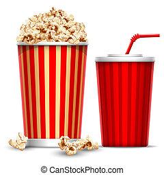 popcorn, dricka