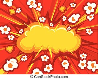 Popcorn explosion vector illustration