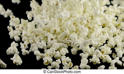 popcorn falling on the table