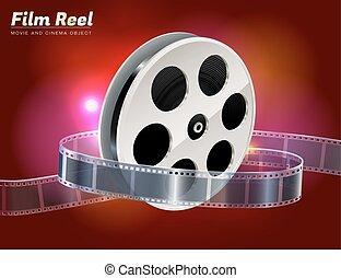 popcorn, film, bio, objekt