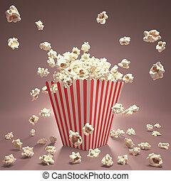 Popcorn Flying - Popcorn exploding inside the packaging ...