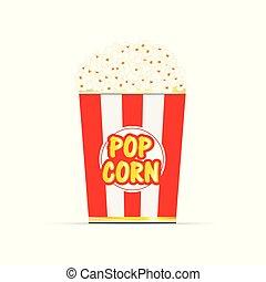 popcorn food cartoon illustration