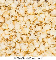 popcorn, foto, bakgrund, realistisk
