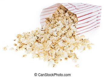 popcorn, fresco, bianco, fatto
