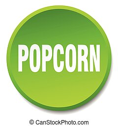 popcorn green round flat isolated push button