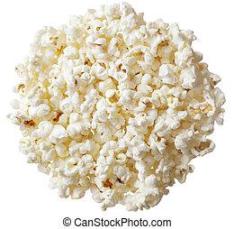 Group of popcorn isolated on white background