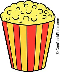 Popcorn icon cartoon
