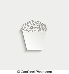 popcorn icon vector  illustration isolated on white background
