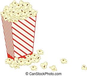 Popcorn Illustration realistic vector