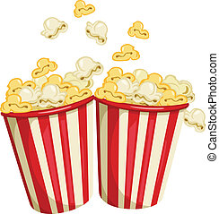 Popcorn - Illustration of two packs of popcorn