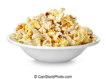 Popcorn in a plate