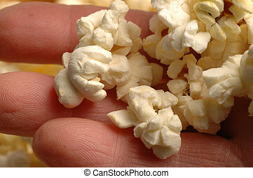 popcorn in a working man\\\'s hand