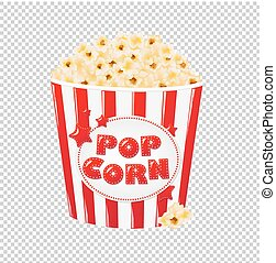 Popcorn In Cardboard Box