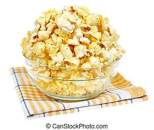 Popcorn in glass