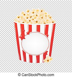 Popcorn In Red Cardboard Box