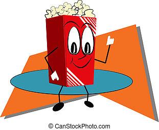 popcorn in retro style
