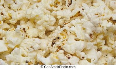 Popcorn In Rotation - Macro footage of popcorn In Rotation