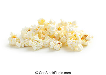 Popcorn isolated on a white