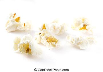 Popcorn isolated on white background