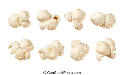 Popcorn isolated on white